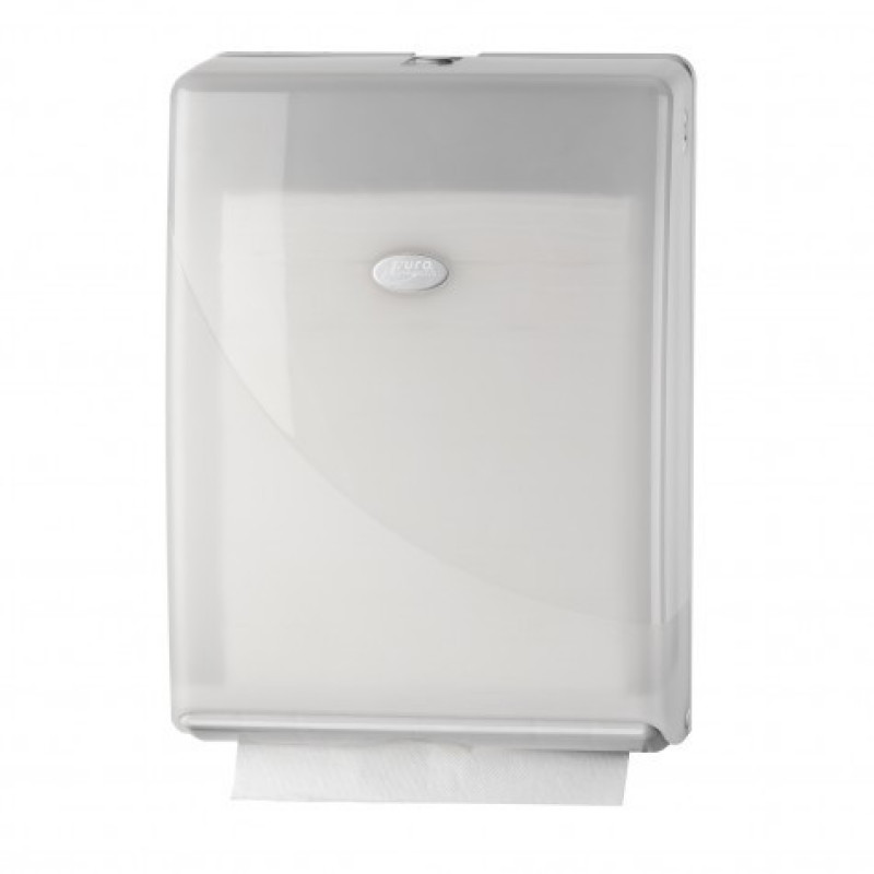 Pearl White Handdoekdispenser interfold, z-fold 431101