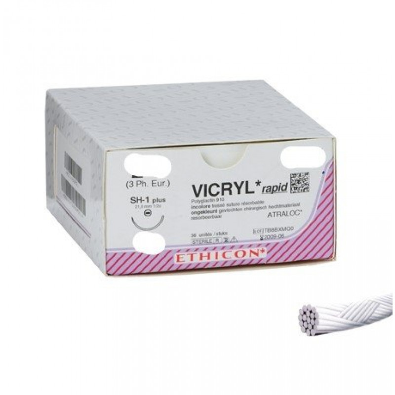 Hechtdraad Ethicon Vicryl Rapide 4/0 75cm C-3