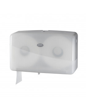 Dispenser toiletpapier Pearl white jumbo duo-mini 431007