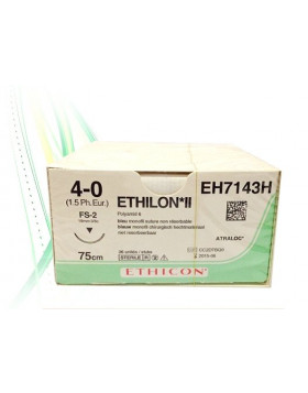 Hechtdraad Ethilon 4-0 75CM FS-2 EH7143H