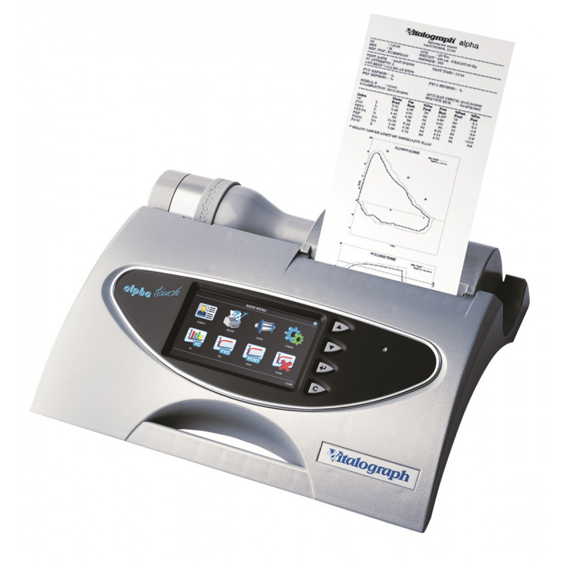 Vitalograph Alpha Touch spirometer met PDF Reports Software