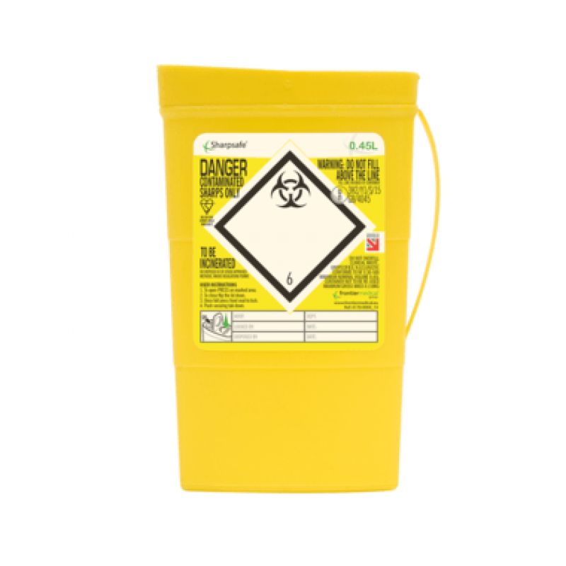 """Sharpsafe Naaldcontainer 0,45L """"Slip"""" opening"""