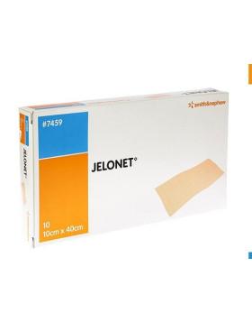 Compresses de gaze parafinée   Jelonet, Smith & Nephew 10 x 40 cm p/10