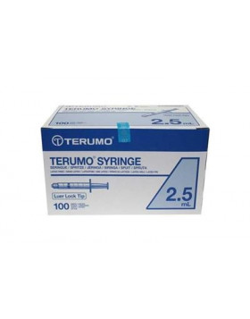 Seringues Jetables Terumo 2.5 ml Luer Lock SS * 02LE1