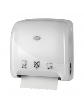 Pearl White distributeur de serviettes Autocut Mini Matic XL